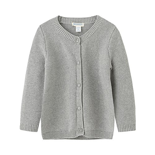 Grey Cotton Cardigan - BOSBOOS Baby Boys Girls Toddler Solid Cotton Cardigan Sweater for Winter (24M, Grey)