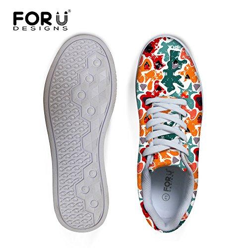 Voor U Ontwerpen Casual Heren Veterschoenen Met Lage Top En Comfortabele Skateboardschoen Mode Sneaker Groen-geel B