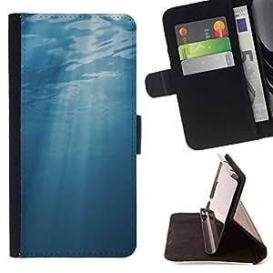 Momo Phone Case / Flip Funda de Cuero Case Cover - Light Blue Sea Underwater Sun - Sony Xperia Z3 Compact