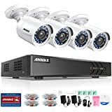 ANNKE 8CH 1080P Lite HD-TVI Surveillance DVR Camera System and 4x1.0MP Indoor/Outdoor Weatherproof Day/Night Metal CCTV Camera, NO Hard Drive Included