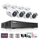 ANNKE 8CH Home Security Camera System and 1080N DVR Surveillance system with NO Hard Drive,4 Weatherproof 720P HD Indoor/Outdoor CCTV Cameras with 66ft Night Vision & Motion Detection,Email Alarm with
