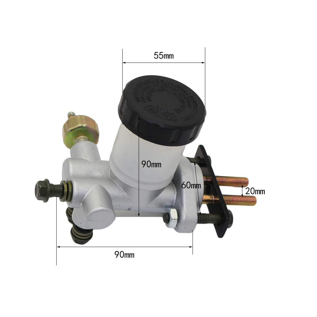 CNCMOTOK New Hydraulic Brake Master Cylinder for 90cc 110cc 125cc 150cc 200cc 250cc Go Kart Buggy Sunl BMS Kandi Roketa Kazuma Kinroad ATV by CNCMOTOK (Image #4)
