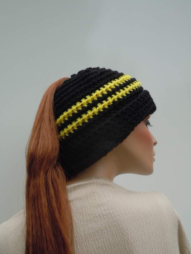 Amazon Ponytail Hat Bumble Bee Hat Hat For Long Hair Winter