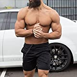 EVERWORTH Men's Gym Workout Boxing Shorts Running