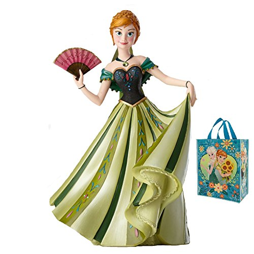 Anna from Frozen Disney Couture de Force Collectible Figurine & Tote 2 Piece Gift Set Disney Couture Set Necklace