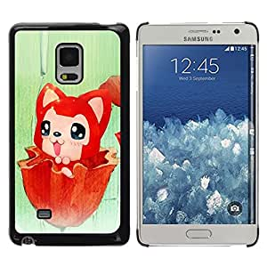 Be Good Phone Accessory // Dura Cáscara cubierta Protectora Caso Carcasa Funda de Protección para Samsung Galaxy Mega 5.8 9150 9152 // Cute Red Fox