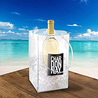 The Chiller Wine Bottle & Ice Carrier Bag, Ice Bucket...