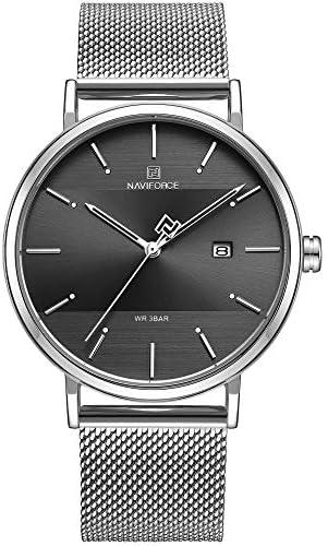 NAVIFORCE Men's Analog Quartz Watch with Stainless Steel Bracelet NF3008