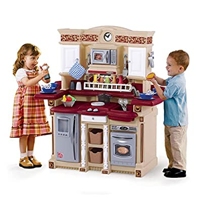 Step2 LifeStyle PartyTime Play Kitchen | Durable Kids Kitchen Playset with Play Food Set | 33 Toy Accessories Included: Toys & Games