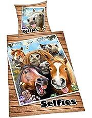 Herding Dekbedovertrek Selfies Paarden, kussensloop
