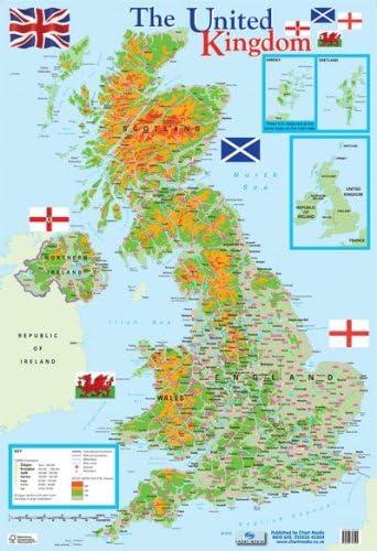 carte de uk en anglais