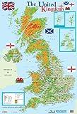 Carte de l'Angleterre Poster Format Moyen 40 x 60 cm