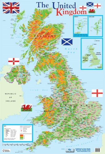 Map of the united kingdom mini poster 40x60cm amazon kitchen map of the united kingdom mini poster 40x60cm gumiabroncs Choice Image