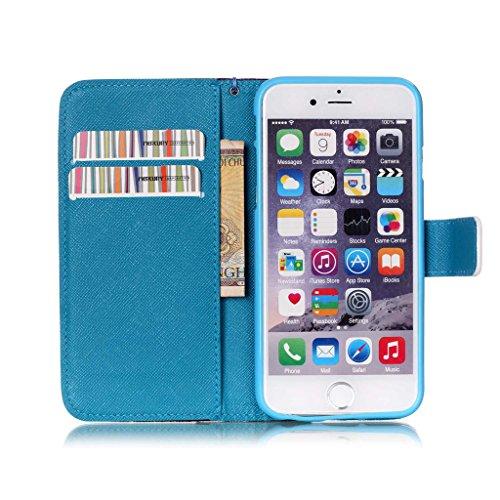 """iPhone 6S / iPhone 6 4.7"""" Coque , Apple iPhone 6S / Apple iPhone 6 4.7"""" Coque Lifetrut® [ Purple Dream Catcher ] [Wallet Fonction] [stand Feature] Magnetic snap Wallet Wallet Prime Flip Coque Etui pou"""