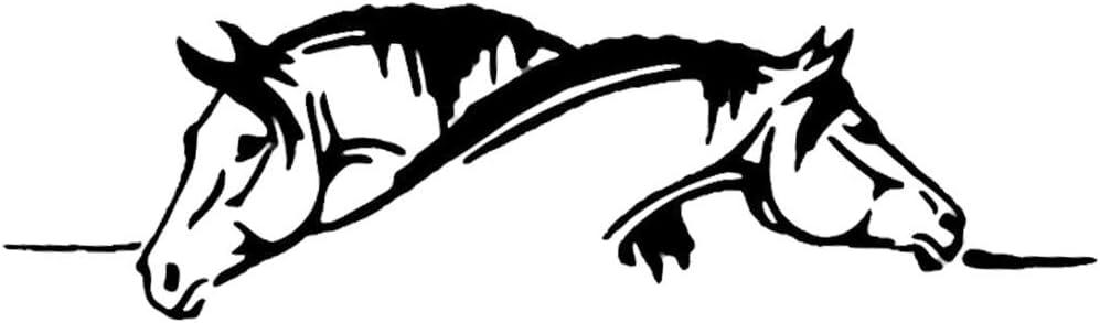 Danigrefinb Pegatinas y calcomanías para Coche, Creativas Dos Caballos gráficos Divertidos Animales Reflectantes Pet calcomanía Reflectante