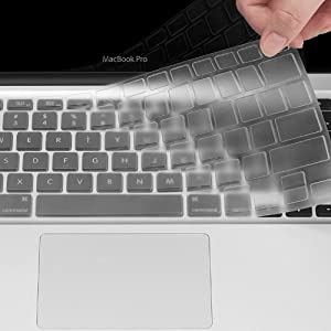 UPPERCASE Ultra Thin Clear Soft TPU Keyboard Cover Skin for Macbook Air 13 13.3 Inch