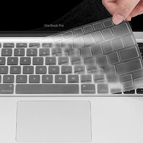 UPPERCASE Ultra Thin Clear Soft TPU Keyboard Cover Skin for Macbook Pro 13 15 TO