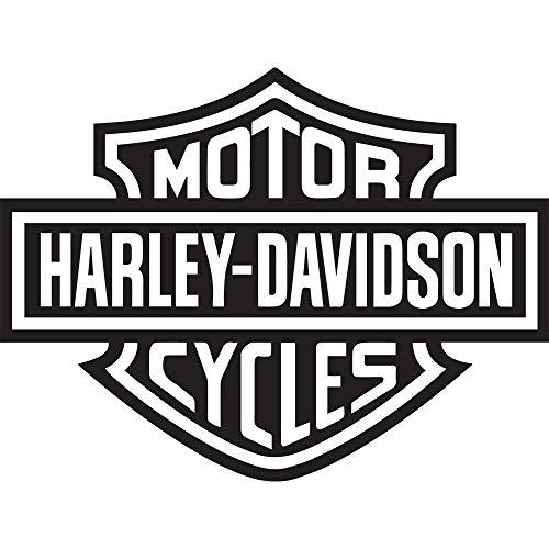NBFU DECALS Logo Harley Davidson (Black) (Set of 2) Premium Waterproof Vinyl Decal Stickers for Laptop Phone Accessory Helmet CAR Window Bumper Mug Tuber Cup Door Wall Decoration