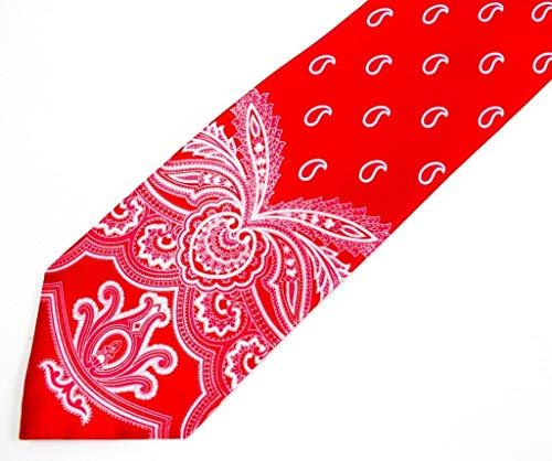 Brioni Satin Red Tapestry Paisley Print Tie (Brioni Handmade Tie)