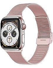 Dumgeo Kompatybilny z paskiem Apple Watch 42 mm 38 mm 40 mm 44 mm 41 mm 45 mm, regulowany pasek zastępczy ze stali nierdzewnej odpowiedni do iWatch Series 7/6/5/4/3/2/1 SE