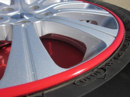 2000-2006 BMW X5 Rim Guards Red Alloy Armor Wheel Rim Curb Scratch Protection Strips 2001 2002 2003 2004 2005 00 01 02 03 04 05 06 E70 E53