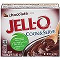 Jell-O Cook & Serve Chocolate Pudding & Pie Filling, 3.4 oz Box
