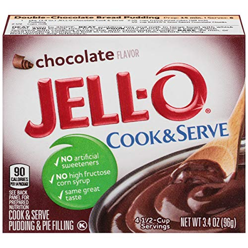 Jell-O Cook & Serve Chocolate Pudding & Pie Filling, 3.4 oz Box