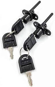 2 Pcs - Zinc Alloy Drawer Lock Desk Wardrobe Furniture Cabinet Locker Showcase with 2 Key 16mm (Black)