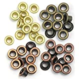 We R Memory Keepers Eyelets for Scrapbooking, Warm Metal, Standard