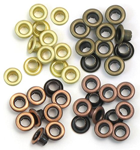 We R Memory Keepers Eyelets for Scrapbooking, Warm Metal, Standard (41583-1) -