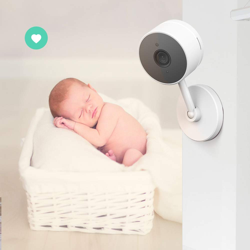 LARKKEY WiFi Home Security Surveillance Camera 1080P, Smart Baby Monitor Compatible with Alexa and Google Home, Motion Detection & Tracker, Night Vision by LARKKEY (Image #9)