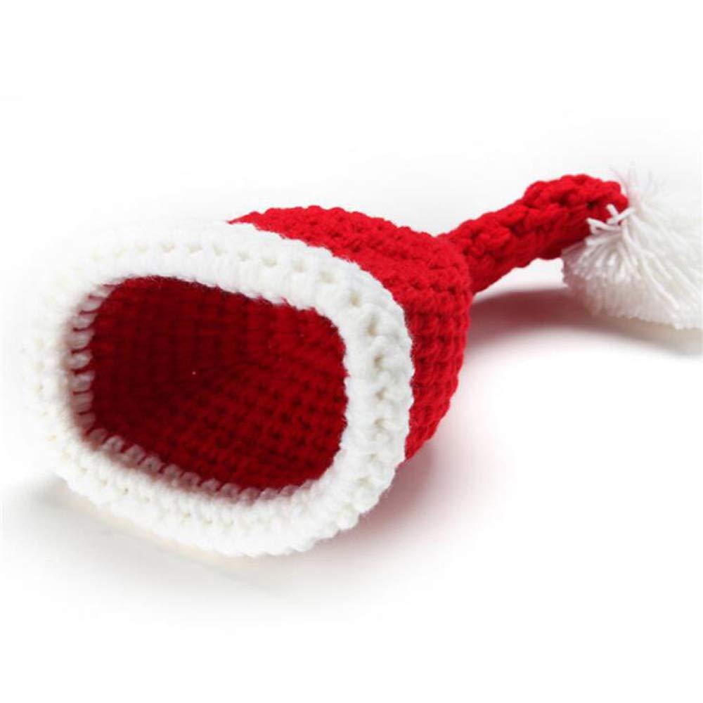 Fotografie Set 2Er Set Weihnachten Baby Strickanzug Kinder Strickm/ütze Plus Windel Cover