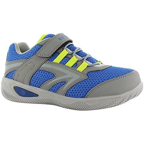 Hi-Tec Thunder Junior, Zapatillas de Deporte para Exterior Unisex Niños Gris/Cobalto/Limón
