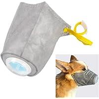Noenull Máscara antipolvo para perro, máscara de bozal transpirable para mascotas, antivaho y cachorro