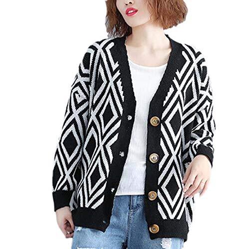 Worclub maglia scollo in Nero V and a con largo Winter Cardigan Autumn formato RwBrEqxR