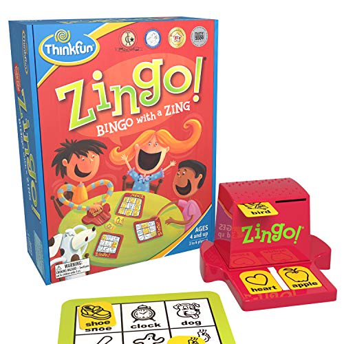 ThinkFun Zingo Bingo Award Winning Preschool Game for Pre-Readers and Early Readers Age 4 and Up – One of the Most…