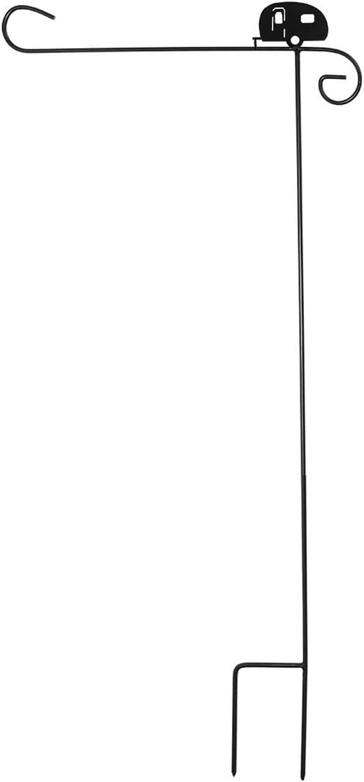 "Briarwood Lane Wrought Iron Camper Garden Flag Stand 40"" H"