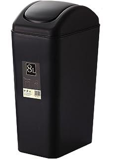 Plastic Trash Can Swing Lid Kitchen/Bathroom/Bedroom/Parlor/Office Trash Can
