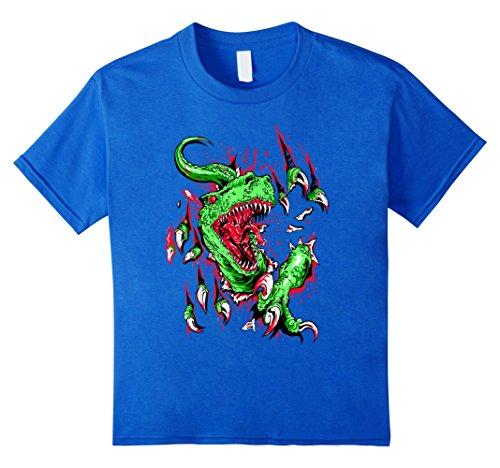 Kids Velociraptor Kids Shirt Halloween Dinosaur Costume for Kids 12 Royal Blue