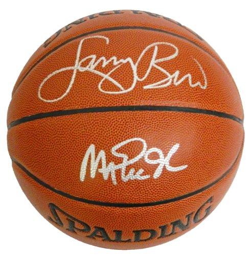 - Larry Bird & Magic Johnson Signed Spalding Indoor/Outdoor NBA Basketball