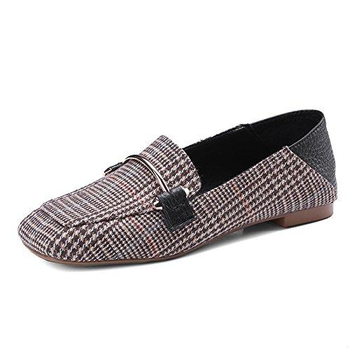 Zapatos Brown El Los Y Lazy Planos GAOLIM Bones Verano Zapatos Zapatos Formato Tacón Zapatos Mujer De Las De Primavera Zapatos Alto De De Mujeres Zgtqw1d4t