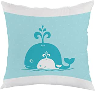 Be a friend of your child Printed Pillow, white velvet Fabric 40X40 cm