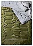 sleeping bag - Ohuhu Double Sleeping Bag with 2 Pillows and a Carrying Bag for Camping, Backpacking, Hiking, Army Green
