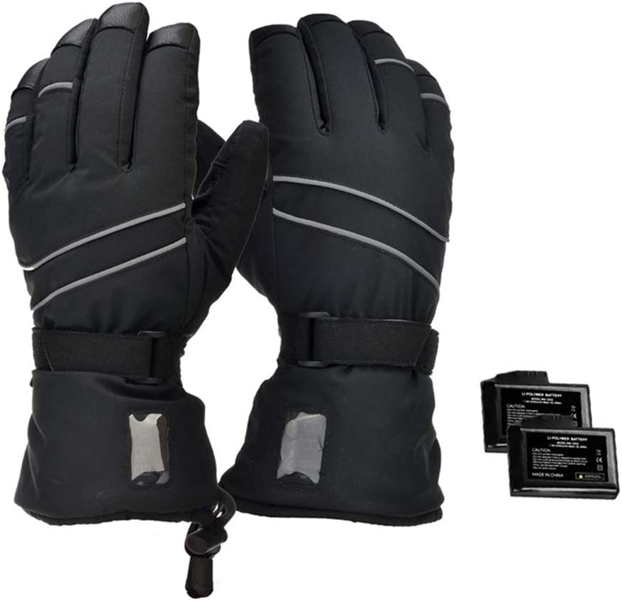 Decyam Electric Heated Gloves Rechargeable Li-ion Battery Hand Warmers for Men Women Cold Weather Gloves Riding Gloves Outside Working//Fishing//Hiking