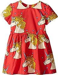 Mini Rodini Girls Unicorn Star Woven Dress1715011342, Red, 80/86