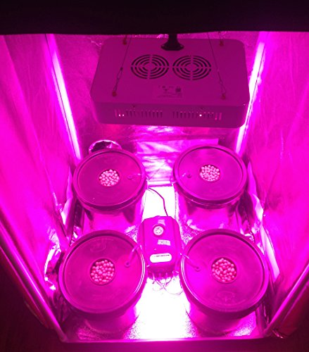New Hydroponic Grow Room - Complete Grow Tent - 300w LED Grow Light with IR Hydroponic System 2