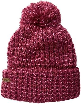 The Kate Waffle Knit Beanie Hat with Oversized Pom Pom
