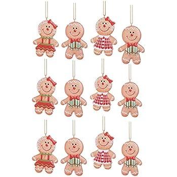 Amazon.com: Gingerbread Man Christmas Tree Ornaments ...