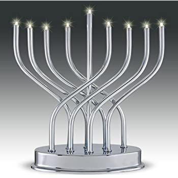 Amazon Com Battery Operated Led Menorah Home Amp Kitchen