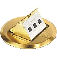 Brass Floor Box Kit With Pop-Up Data Ports